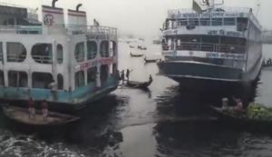Ein Hafen in Bangladesh