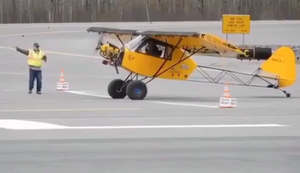 Kurze Start- und Landebahn