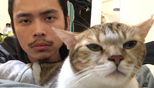 Mit der Katze abhängen
