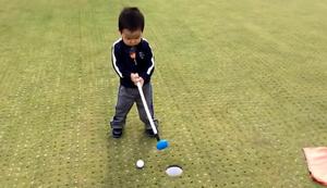 Mit dem Sohnemann beim Golf