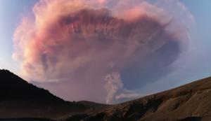 Gewitter �ber einem Vulkan