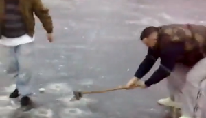 Wer bricht zuerst ins Eis ein?