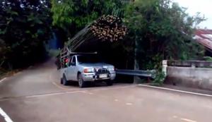 Bambus transportieren in Thailand