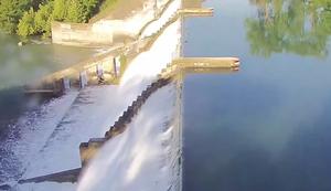 Dammbruch am Lake Dunlap