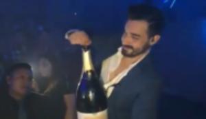 Champagnerflasche leeren