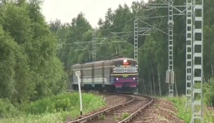 Ein Zug geht steil