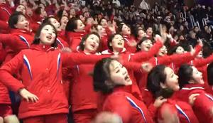 Nordkoreanische Cheerleader bei den Winterspielen