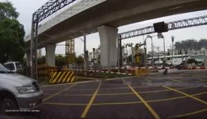 Gefährlicher Bahnübergang