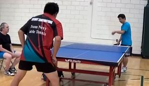 Starker Schlag beim Tischtennis