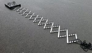 Nagelkette für Strassensperre