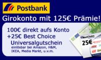 Jetzt ganz einfach 125 Euro abstauben!