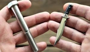 Von der Schraube zum Jagdmesser