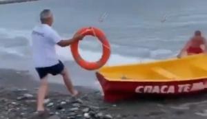 Die Rettungsschwimmer im Einsatz