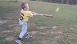 Baseball-Training im Garten