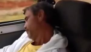 Im Auto eingeschlafen