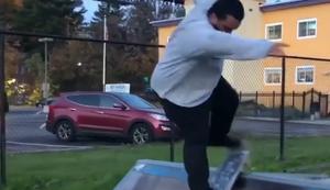Fette Tricks auf dem Skateboard