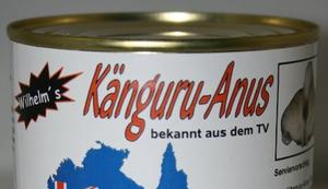 Känguru Anus in der Dose