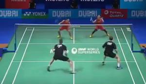 Beeindruckender Schlagabtausch beim Badminton