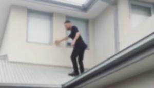 Leise übers dach schleichen