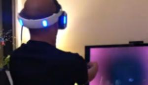 Aufregung beim VR-Spiel