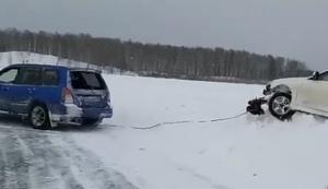 Festgefahrenen Wagen rausziehen